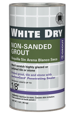 White-dry-non-sanded-grout